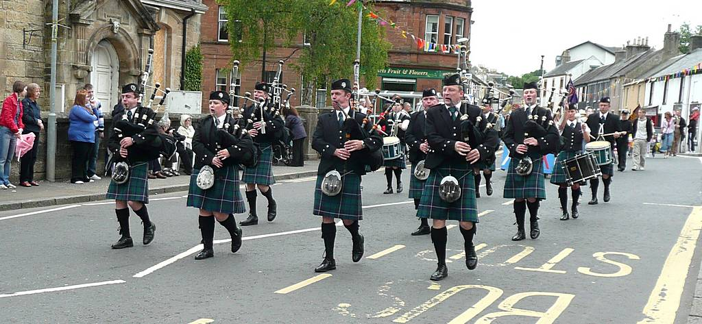 The first Lanark and District Pipe Band
