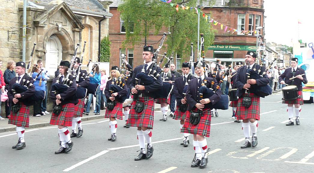The first East Kilbride Pipe Band