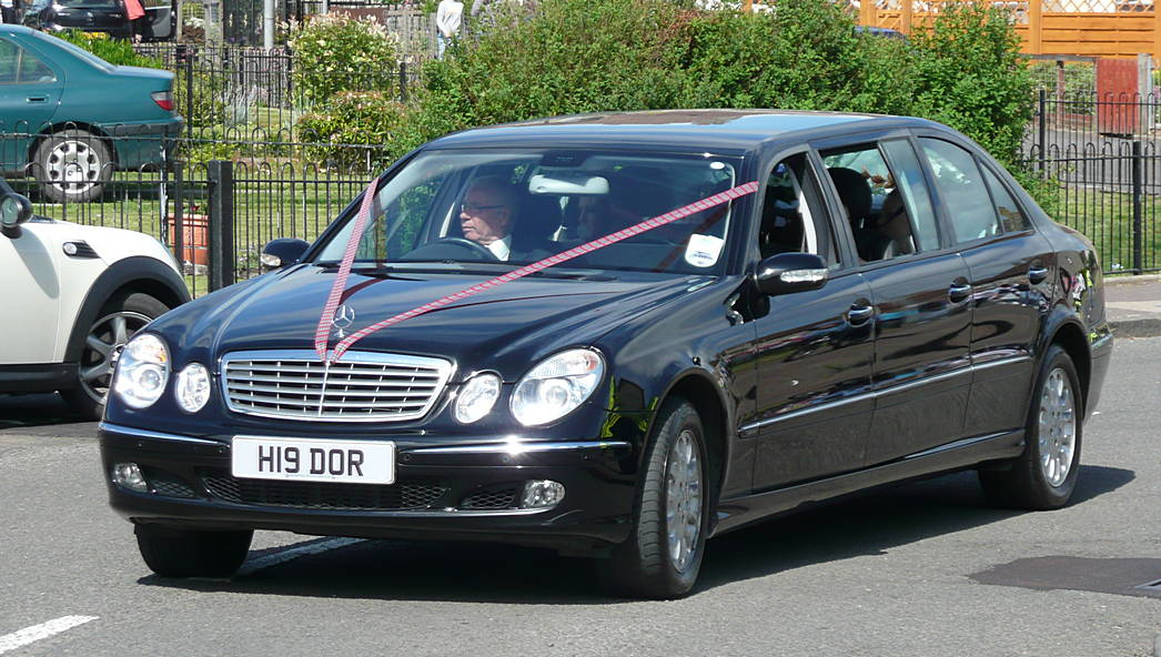 The second limousine with Mr Henry Dorricott himself driving