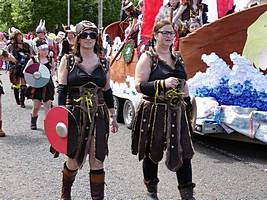 Vikings in procession