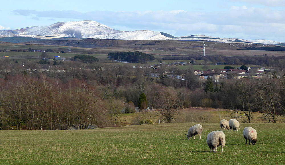 View across Lesmahagow to Tinto