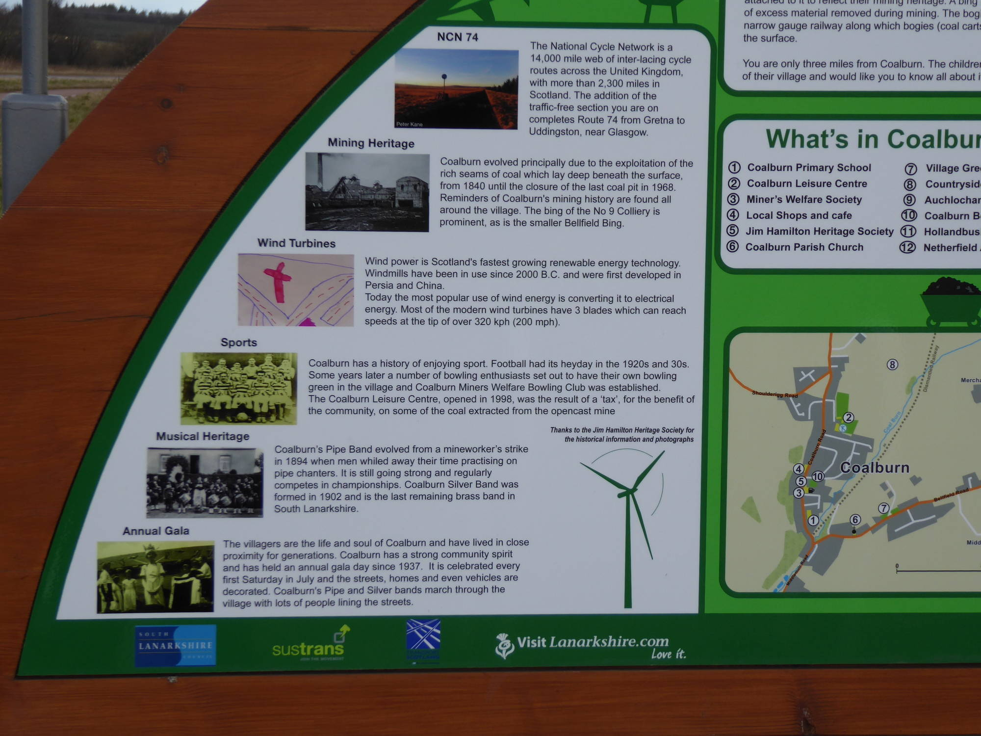 Coalburn Information sign. 17th March 2019