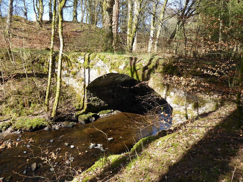 The  bridge over the Nethan from Stockbriggs towards Yonderton Farm.