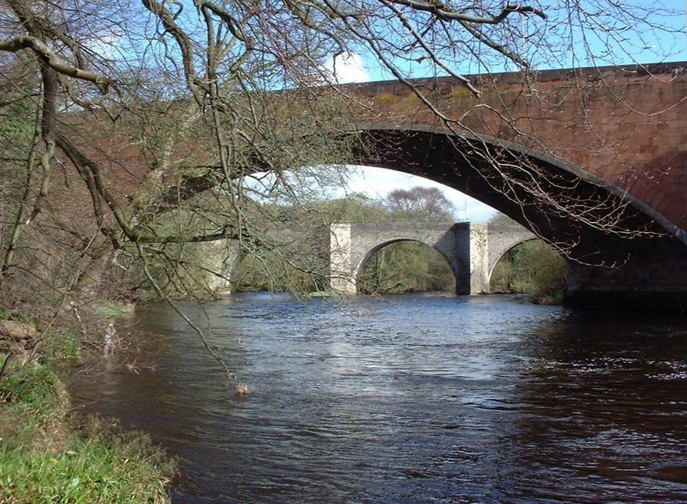 Bridges over Clyde at Kirkfieldbank