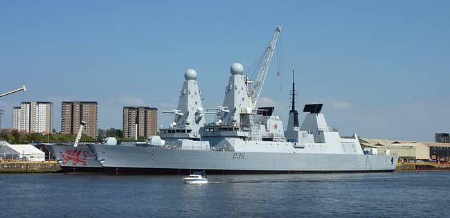 HMS Defender and Dragon