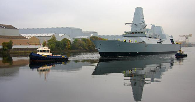 HMS Duncan after launching