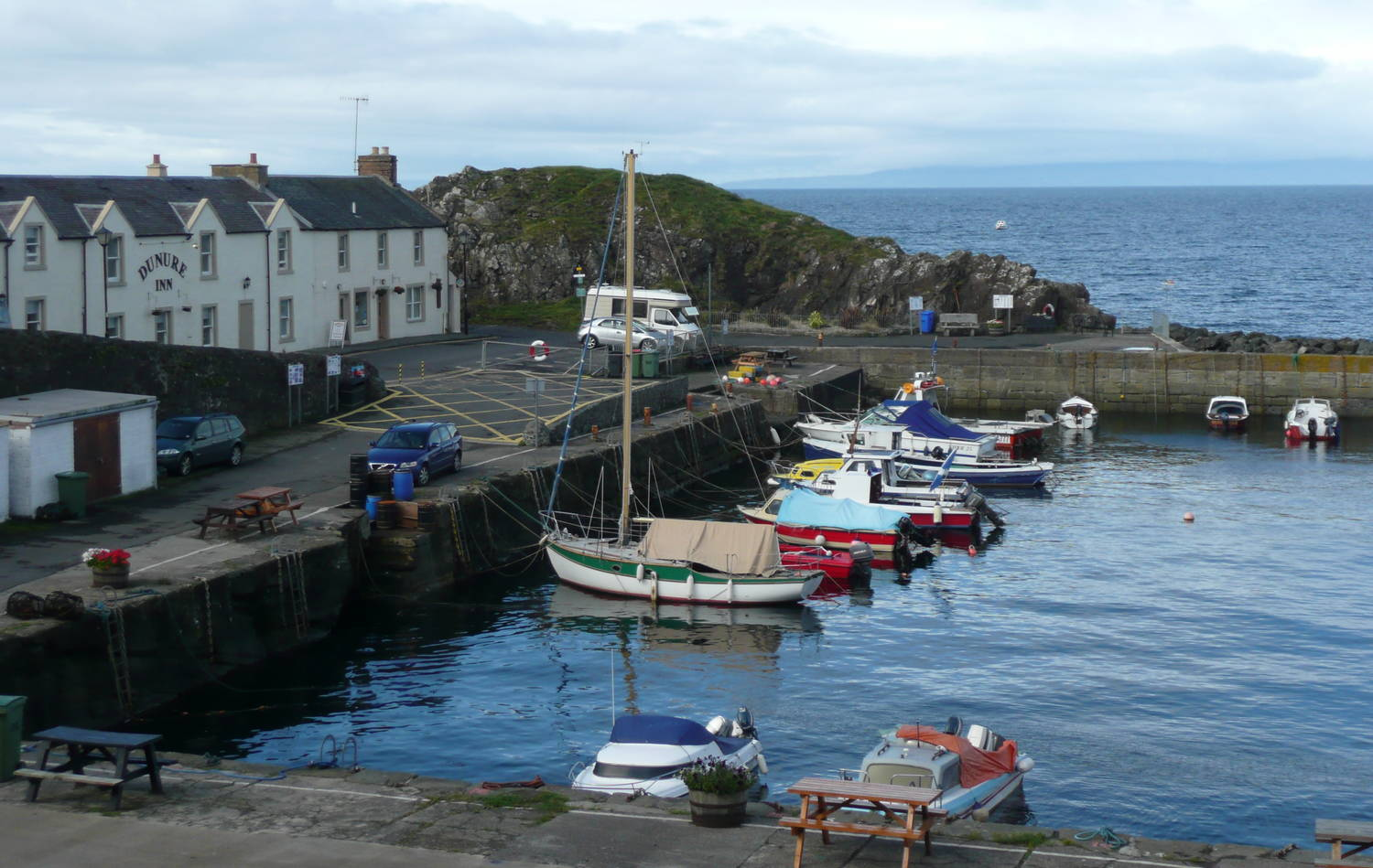 Dunure Harbour and Dunure Inn