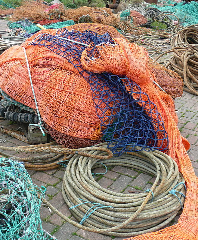 Fishing nets Girvan Harbour