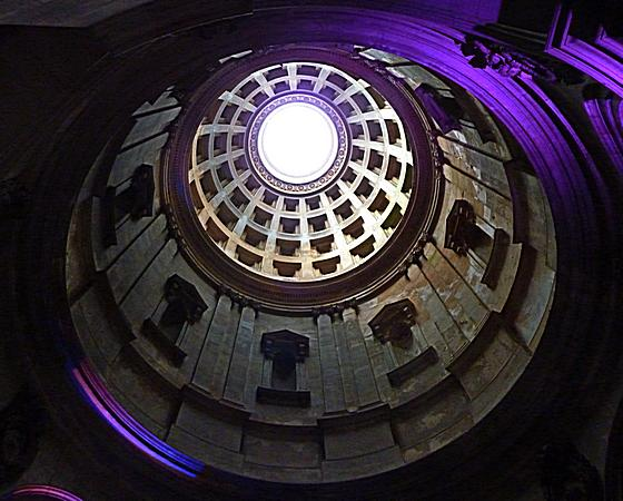 Inside the Dome of the Mausoleum, Hamilton