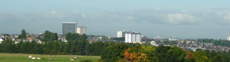 Hamilton, South Lanarkshire from Chatelherault Country Park