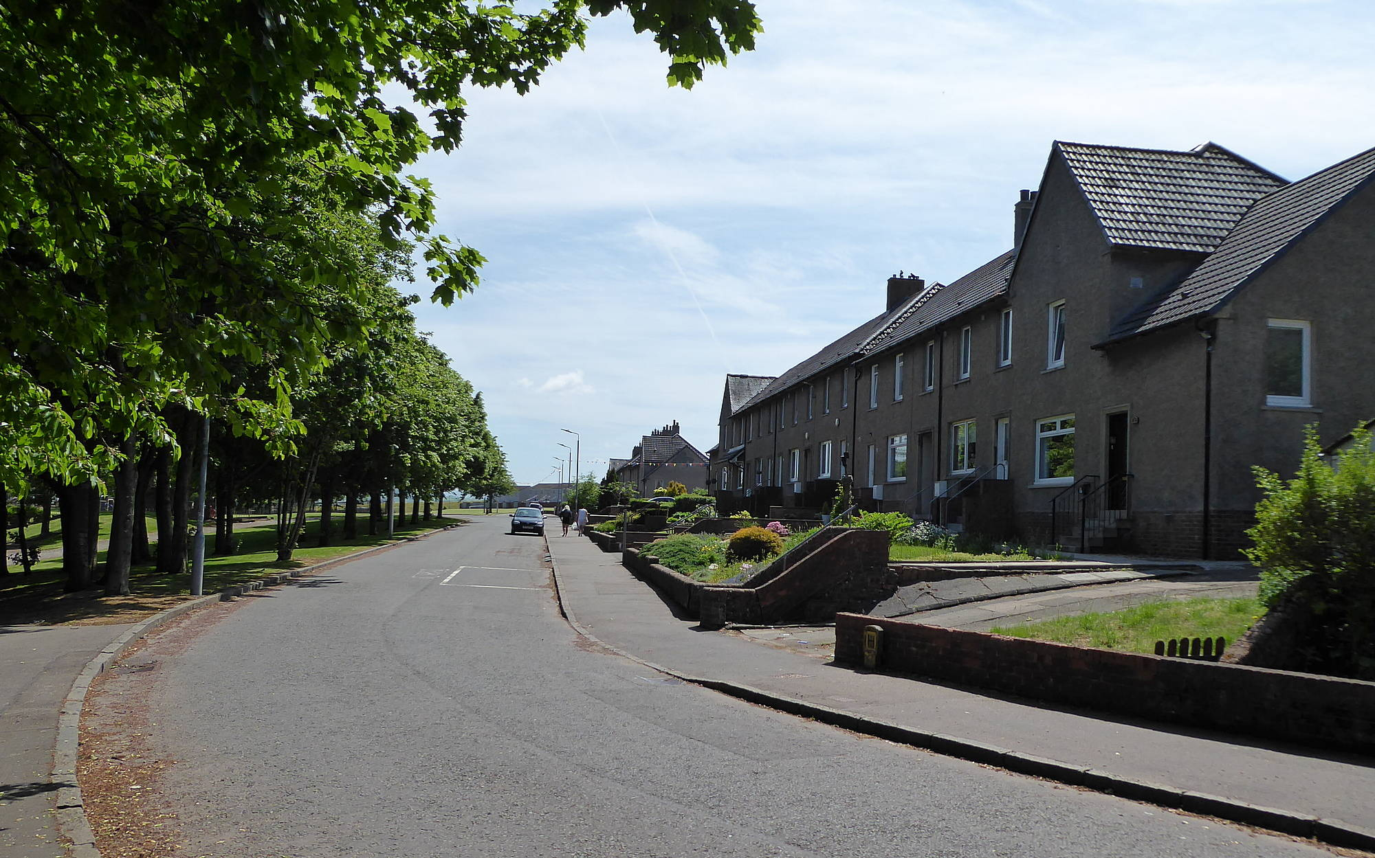 Burns Road - looking back towards Scott Street junction
