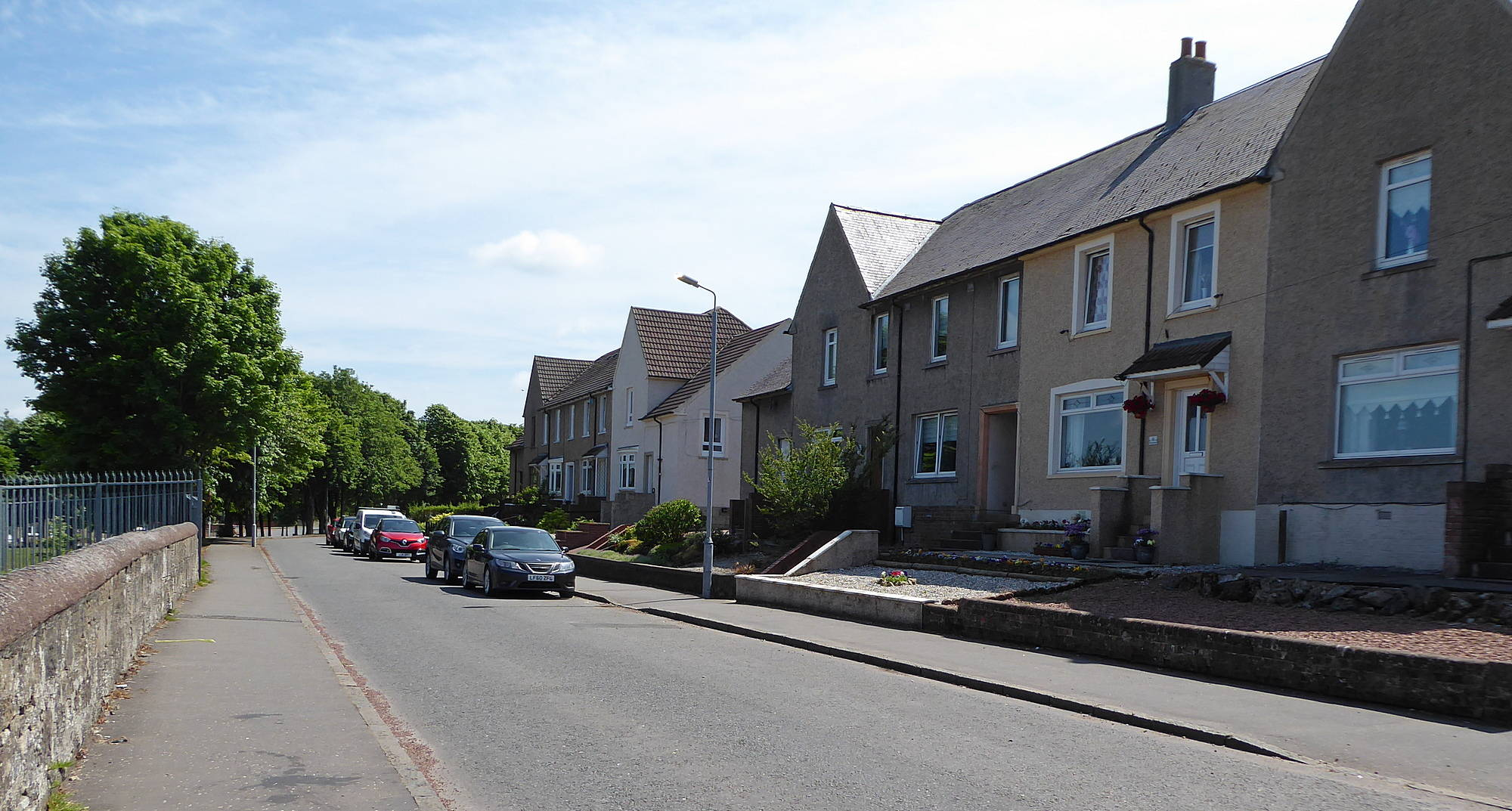 Burns Road - last section nearest Strathaven Road