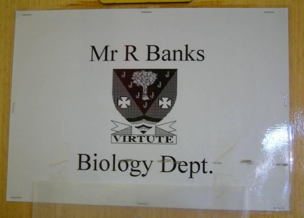 Entrance to Biology Department