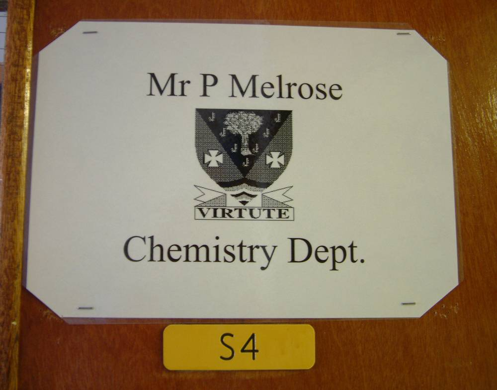 Entrance to Chemistry Department