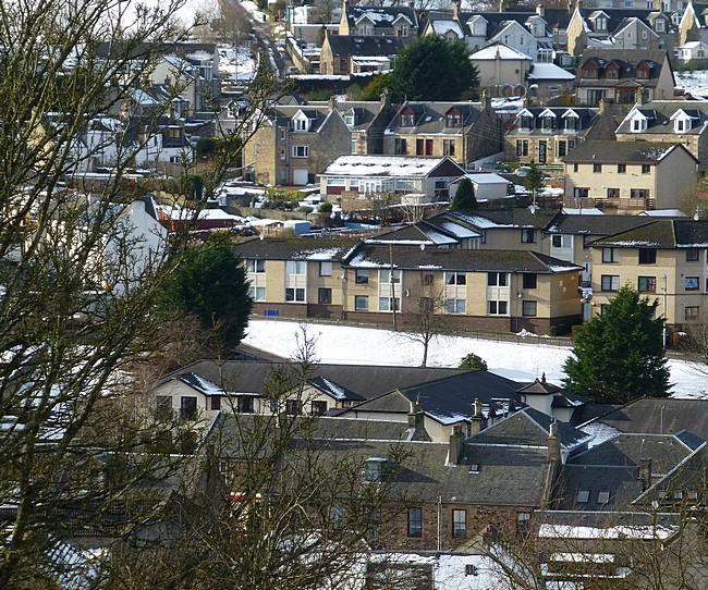 Lesmahagow in the snow