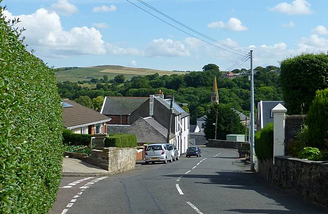 View down New Trows Road