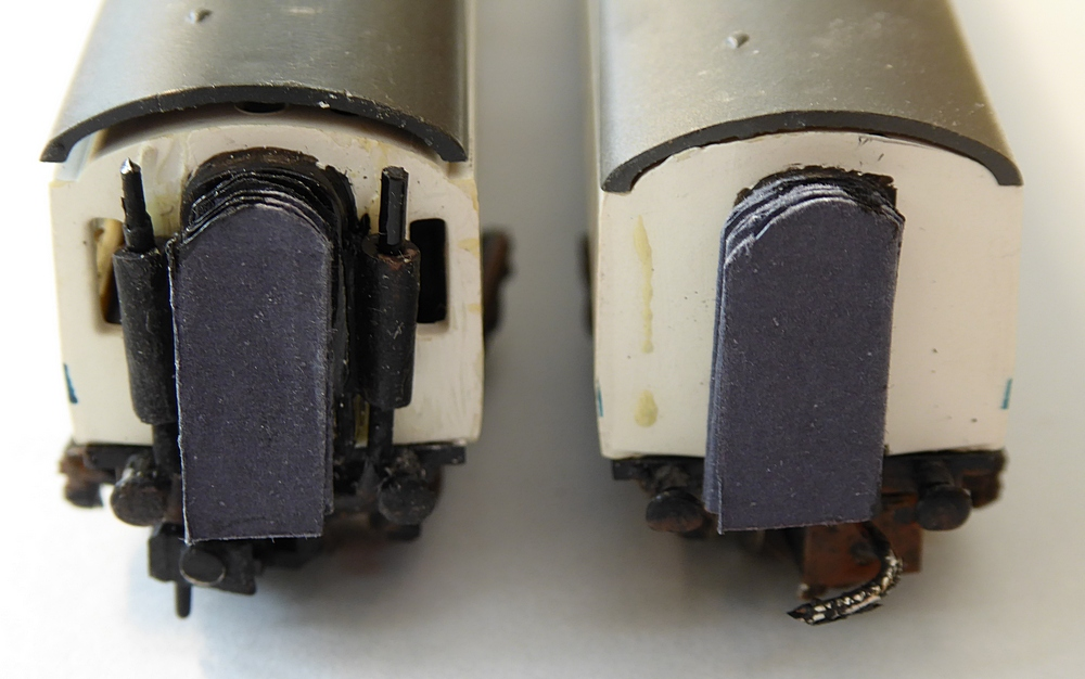 ends of coaches for magnetic coupling