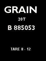 Grain Wagon Plate
