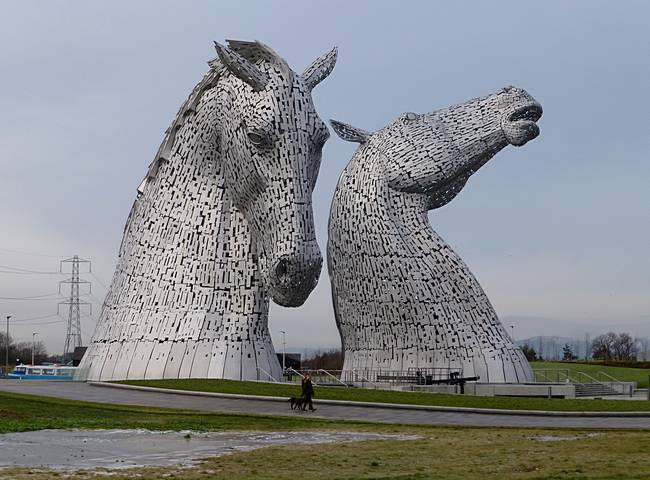The Kelpies near Falkirk