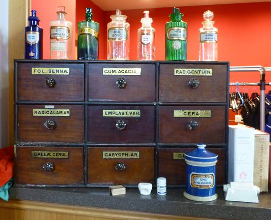 Objects from Old Lesmahagow Pharmacy