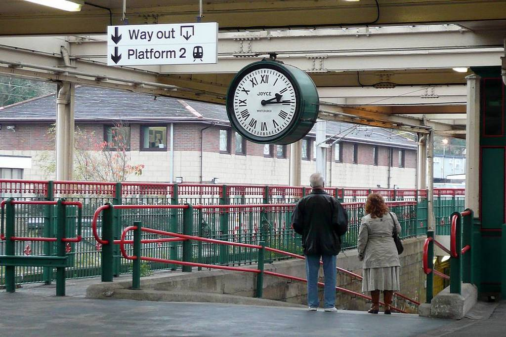 The clock at Carnforth Station. Date 10th Nov 2009..